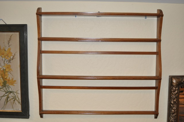 Item # Y8749 Mahogany Hanging Plate Rack c.1920's