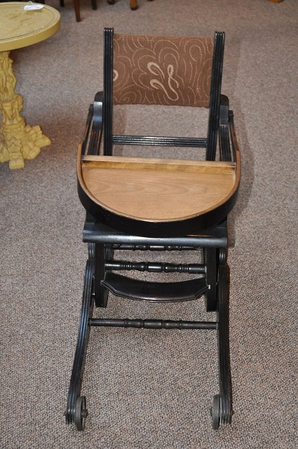 Item # Z1326 Victorian High Chair / Rocker c.1900