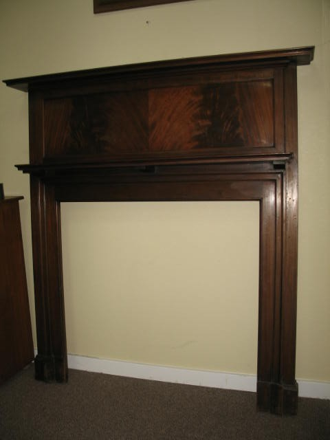 Item # IV65 Flame Mahogany Fireplace Surround c.1920
