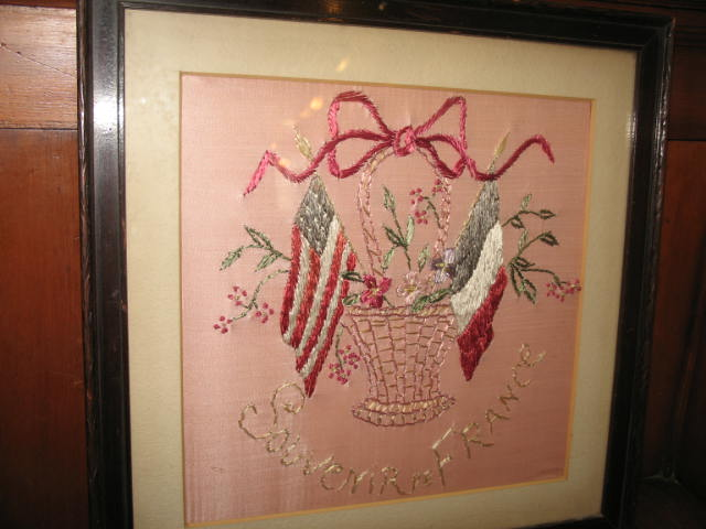 Item # KC129 Framed Embroidery c.1900