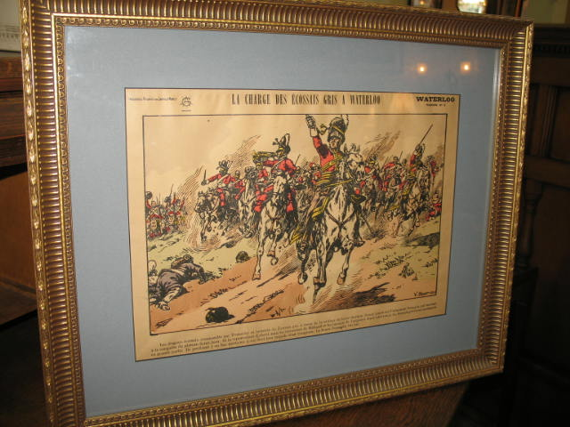 Item # LH2 Antique French Military Cartoon c.1914