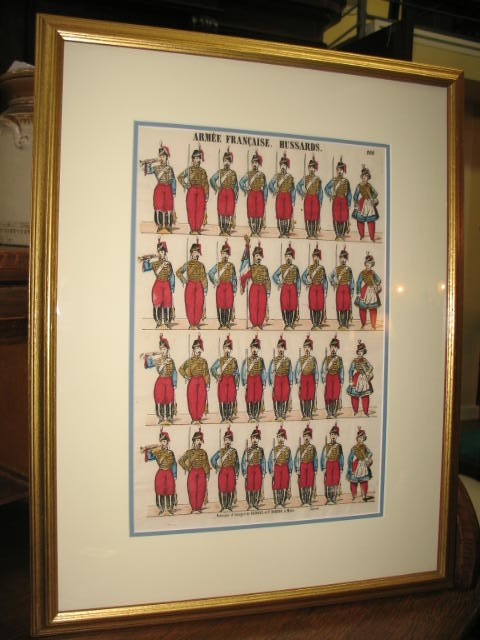 Item # LH3 French Military Lithograph c.1920's