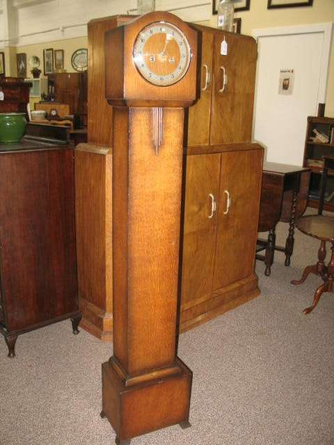 Item # Z83 English Oak Cased Grandmother Clock c.1940's