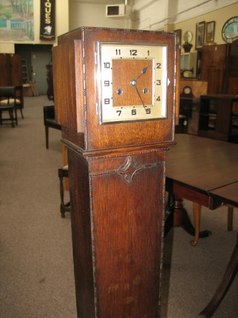 Item # Z971 Art Deco Tall Case Clock c.1920's