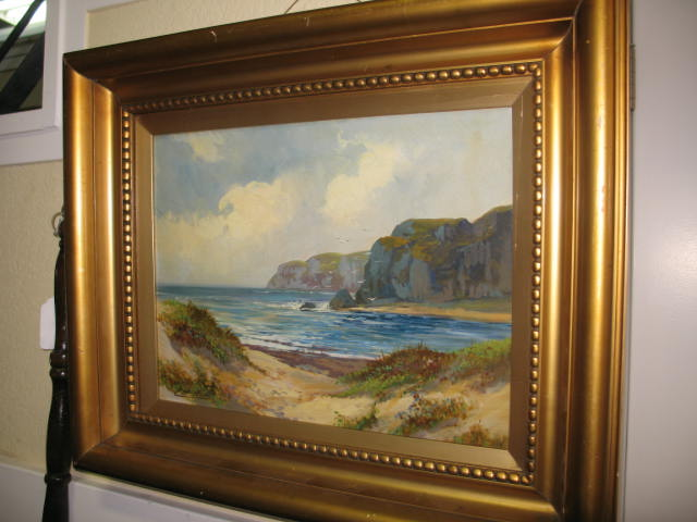 Item # A66 Lovely Coastal Landscape Oil Painting c.1920's