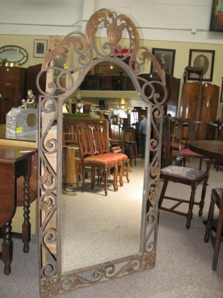 Item # F92 French Wrought Iron Framed Mirror c.1900
