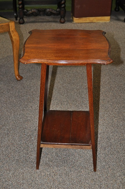 Item #D31 Mahogany Two Tier Occasional Table c.1930's