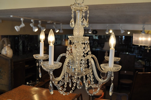 Item #F1049 Five Arm Crystal Chandelier