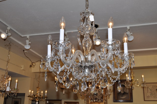 Item #F4465 Six Arm Swarovski Chandelier