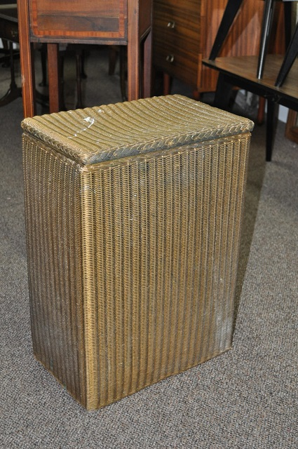 "Item #D492 Lloyd Loom ""Lusty"" Hamper c.1930"