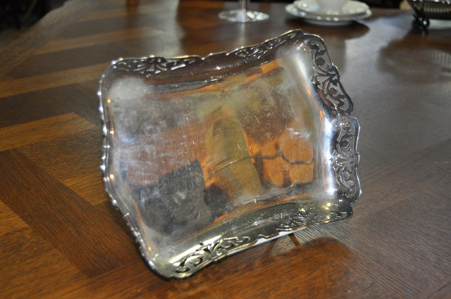 Item #D706b Plated Tray .1950's