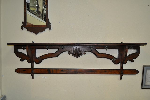 Item #F40 French Country Mahogany Hall Shelf c.1850's