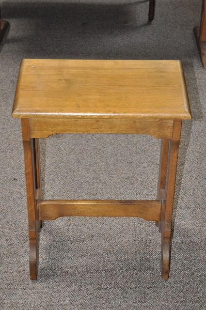 Item #E742 Chestnut Book Table c.1910