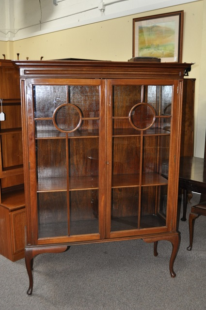 Item #E773 Edwardian Mahogany Display Cabinet c.1910