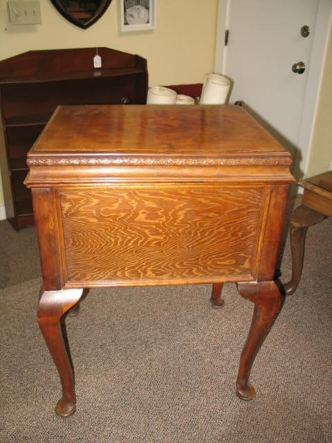 Item #F860 Mahogany & Pine Sewing Box c.1940's