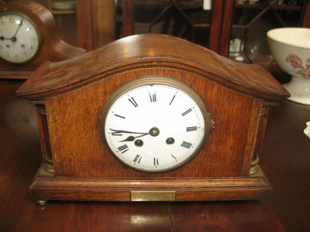 Item #D56 English Oak Mantle Clock c.1919