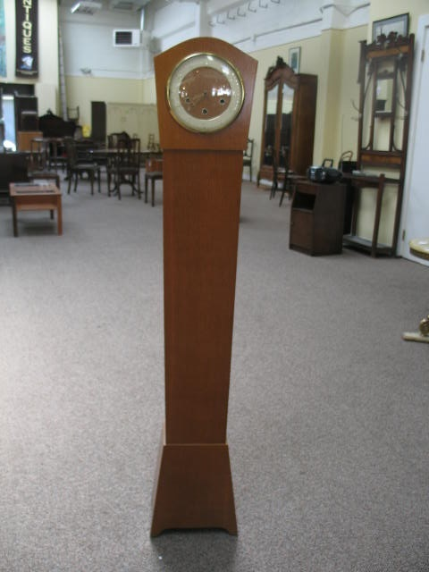 Item #D766 English Oak Tall Case Clock c.1940s
