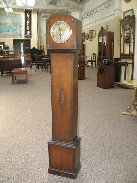 Item #D916 English Oak Tall Case Clock c.1920s