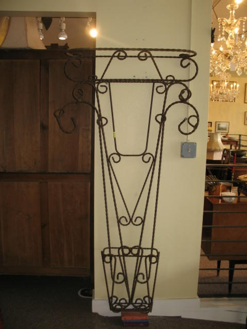 Item #F106A French Wrought Iron Hall Tree c.1910