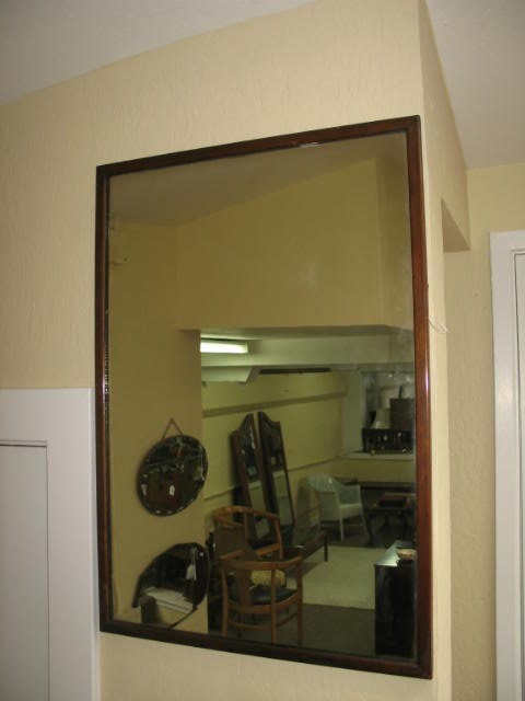 Item #H94 Oak Framed Mirror