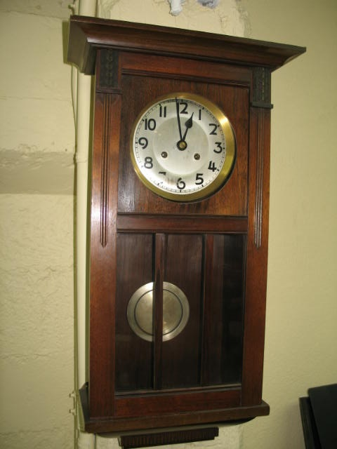 Item #G4039 Mahogany Cased Wall Clock c.1920s