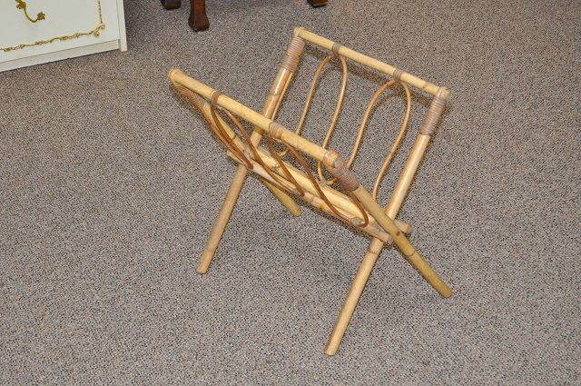 Item #E7461 Bamboo Folding Magazine Rack