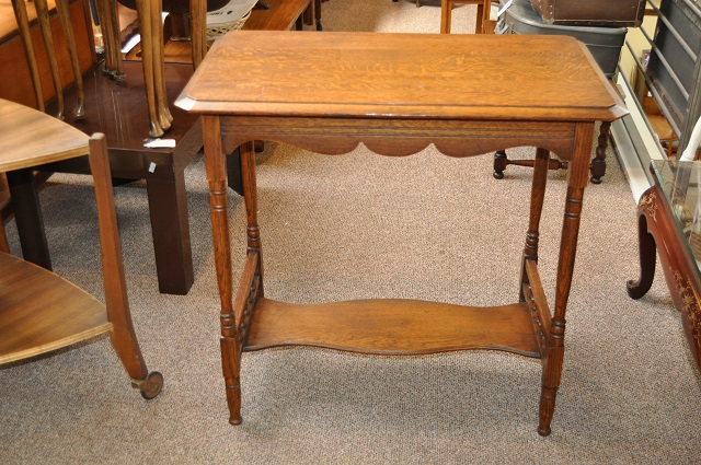 Item #H1275 Hand Carved English Oak Console c.1900