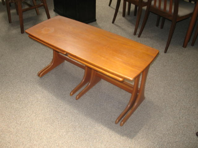H2016 Teak Coffee With Nesting Tables  c.1960's