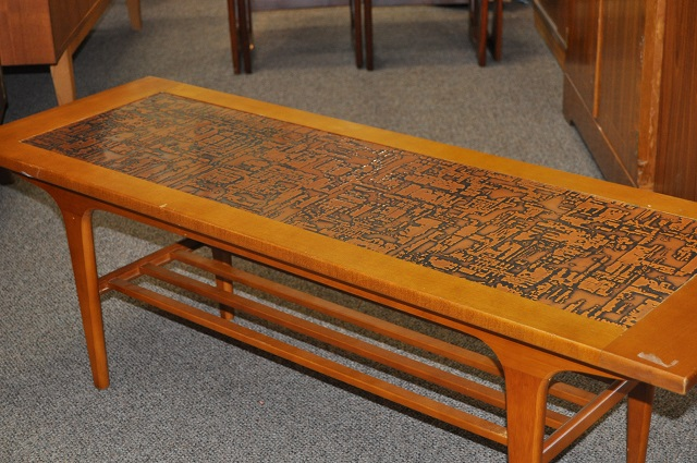 Item #J1421 Vintage Tooled Copper Coffee Table c.1960s