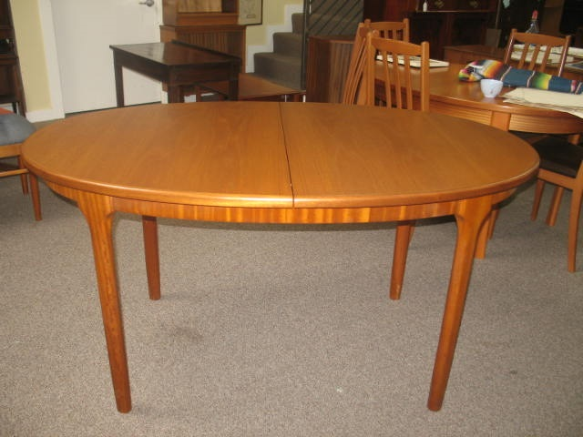 Item #J977 Teak Dining Table w/ Butterfly Leaf c.1970s