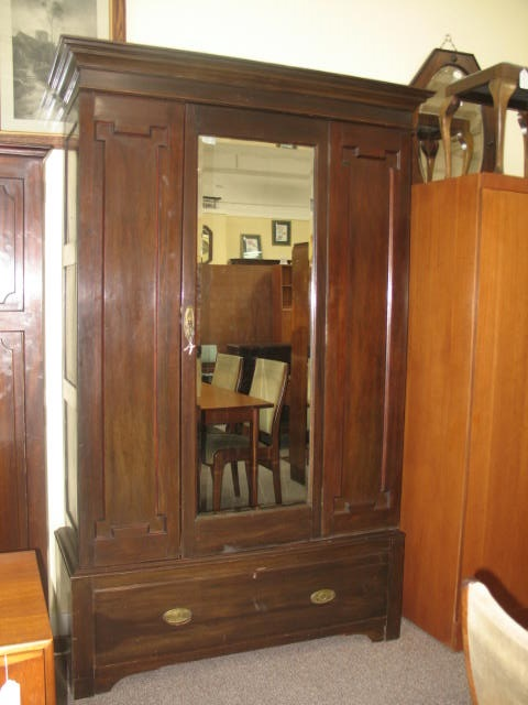 Item #JJ5 Antique Mahogany Armoire c.1910