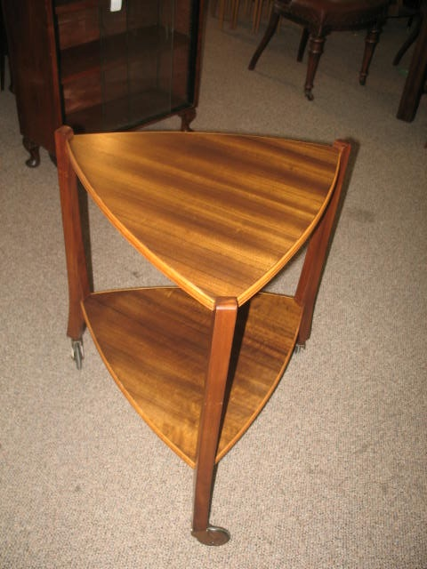 Item #J944b Mid Century Rosewood Two Tier Trolley c.1960