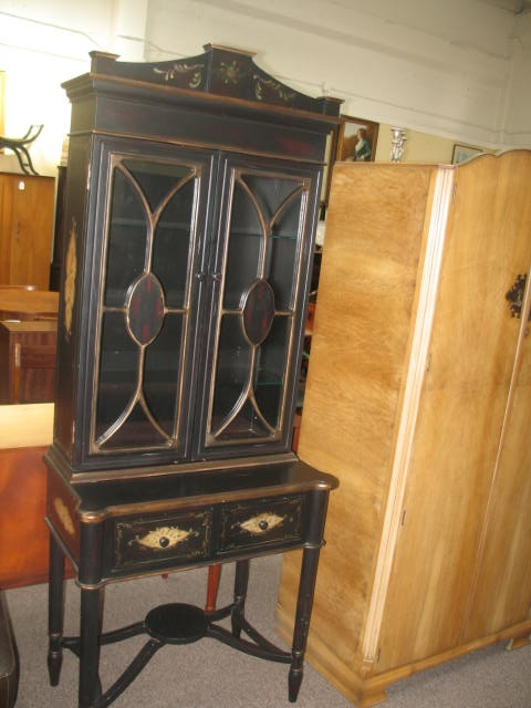 Item #SS2 Contemporary Ebonized Hutch