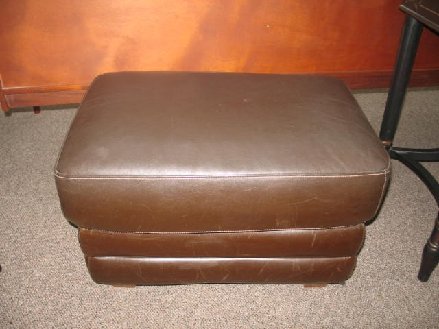 Item #SS6 Contemporary Leather Ottoman