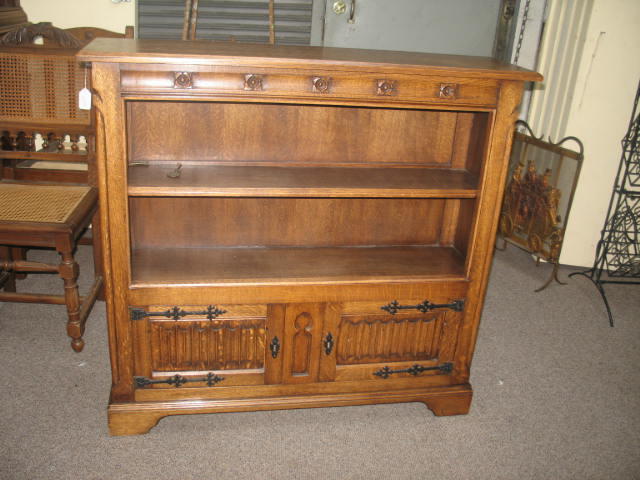 Item #UK01 Vintage Jacobean Oak Bookcase c.1920s
