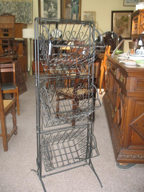 Item #SS44 Free Standing Hanging Kitchen Baskets