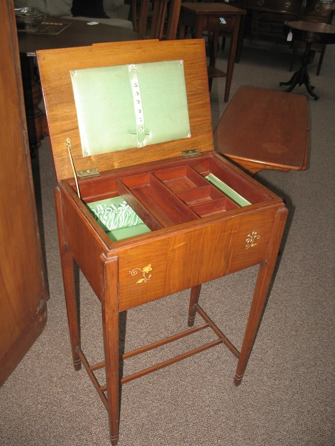 Item #J1547F Deco Sewing Box / Side Table c.1920