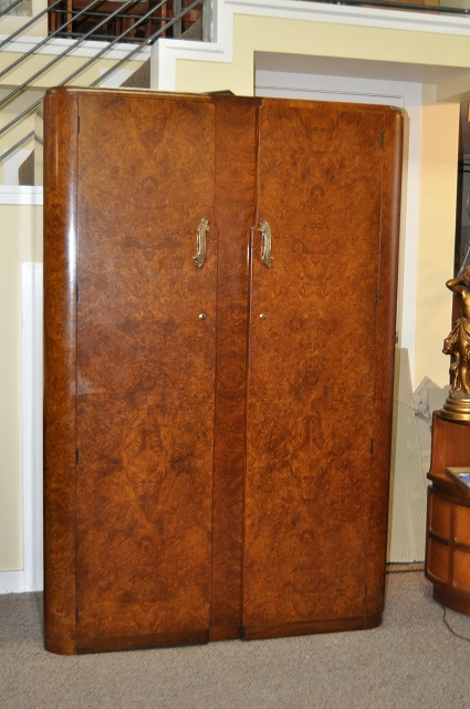 Item #K1805 Art Deco Walnut Armoire c.1930s