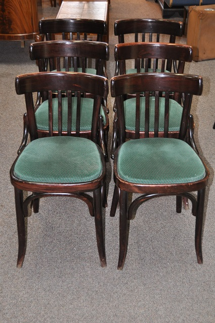 Item #K1811 Set of Six Bentwood Chairs c.1920s