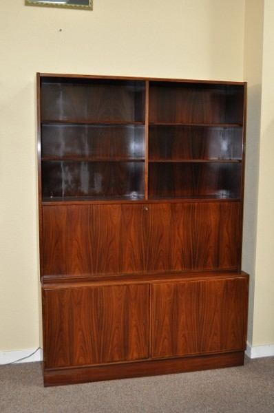 Item #K1825 Rosewood Drop Front Wall Unit by Poul Hundevad c.1960