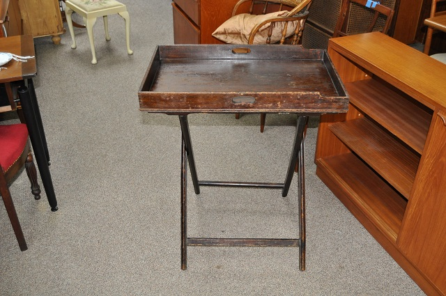 Item #K1889 Folding Stand w/ Serving Tray c.1920s