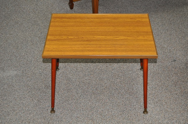 Item #K53 Vintage Laminate Occasional Table c.1950