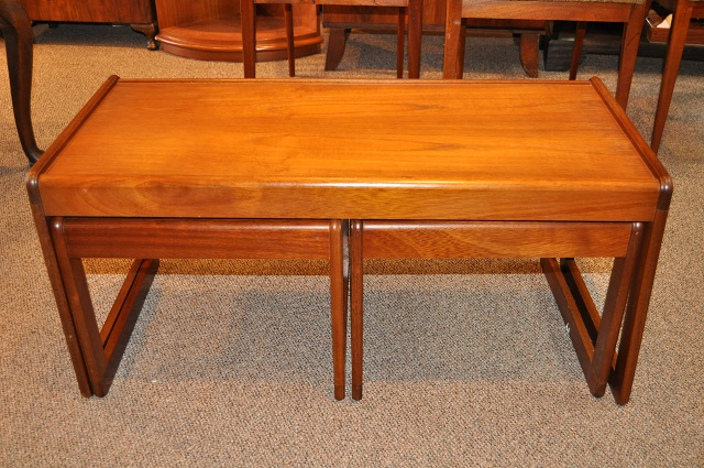 Item #K1849 Teak Coffee and Nesting Tables c.1960s
