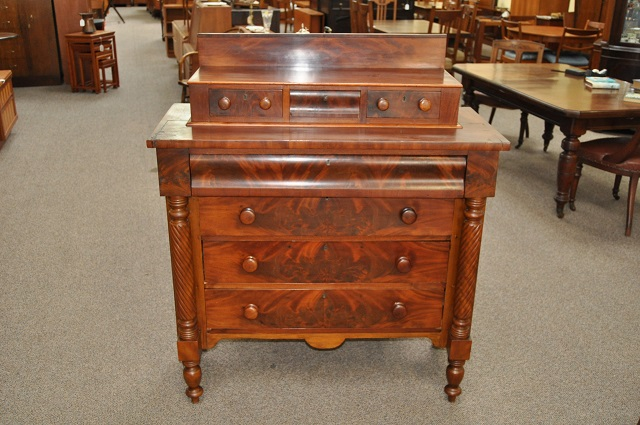 Item #KWN1 Antique Mahogany Empire Chest of Drawers c.1870