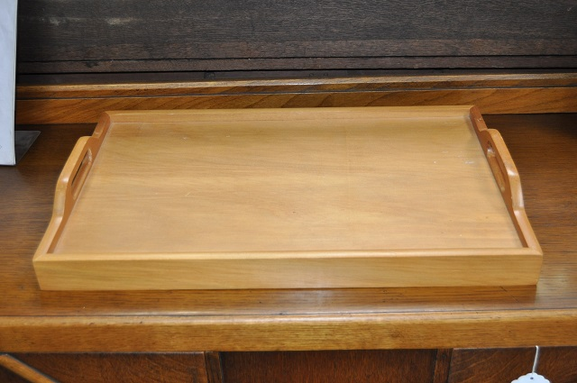 Item #D44 Vintage Two Handled Serving Tray c.1970