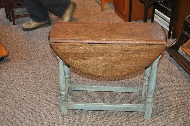Item #H123 Painted Drop Leaf Coffee Table c.1920s