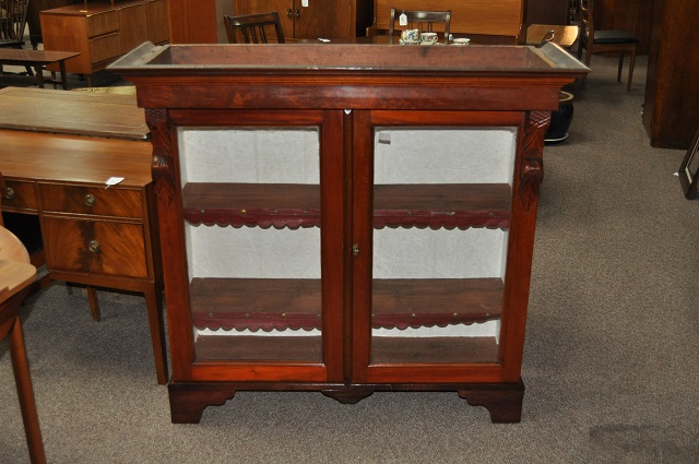 Item #I95B Antique Mahogany Bookcase Cabinet c.1890