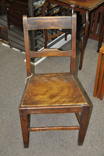 Item #K173 Rustic Kitchen Chair c.1860