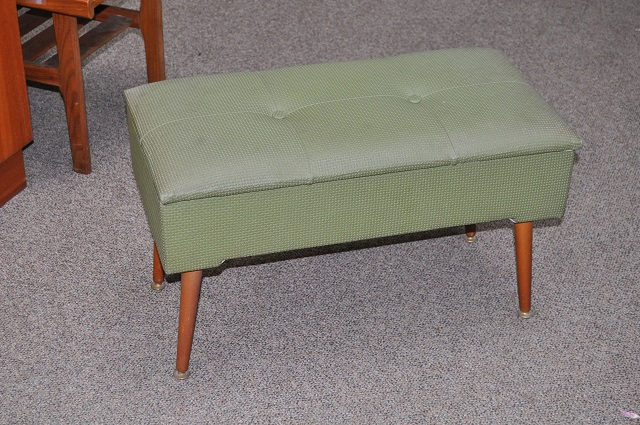 Item #K1774 Vintage Hamper Bench c.1960s