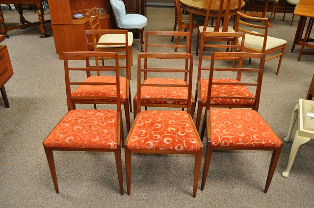 Item #K177 Set of six Rosewood Dining Chairs c.1960s